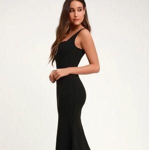Lulu's Sweetest Thing Black Dress